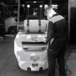 Painting A Forklift Truck
