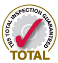 Total Inspection Guaranteed Badge - Forklift Truck Compliance